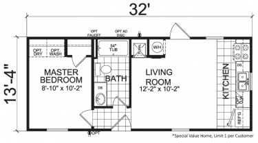 Single Wide Mobile Homes on one story floor plans texas