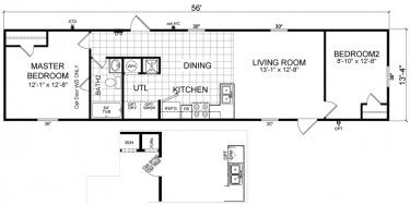 learn more bowie - 18x80 Mobile Home Floor Plans